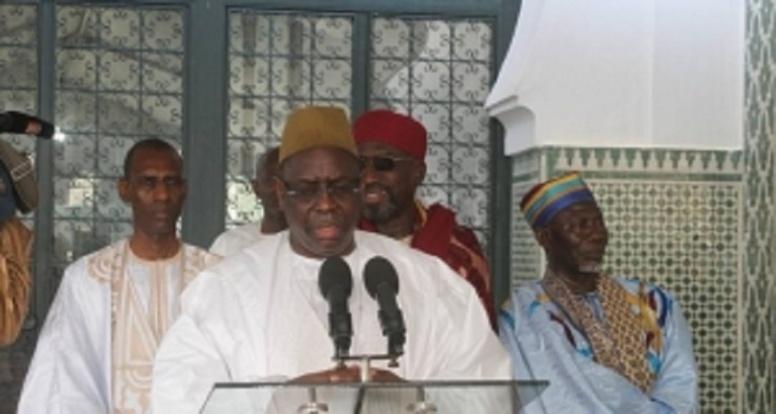 Korité fêtée dans l'unité – Le président Sall prie : «Plaise Dieu nous fortifier dans cet élan partagé »
