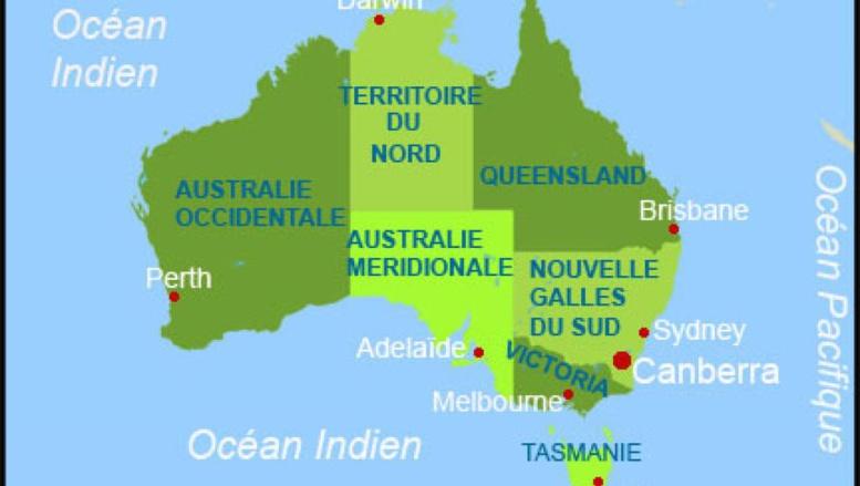L'Australie n'est plus à la bonne place sur la carte du monde
