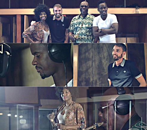 JO 2016: Black M, Christophe Willem & Inna Modja avec Manu Dibango pour interpréter l'hymne de la Francophonie