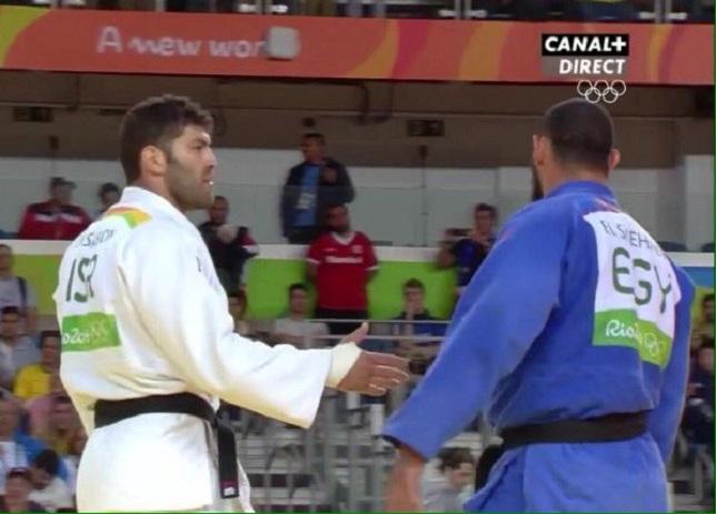 Image  JO Rio 2016: ce judoka Egyptien refuse de saluer un Israélien