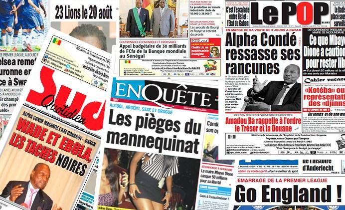 (Revue de presse du jeudi 1er septembre 2016) L'opposition et la société civile encerclent Macky