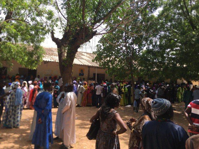 HCCT : Le maire de Dakar, Khalifa Sall vote à l'instant à l'école Mame Yacine Diagne