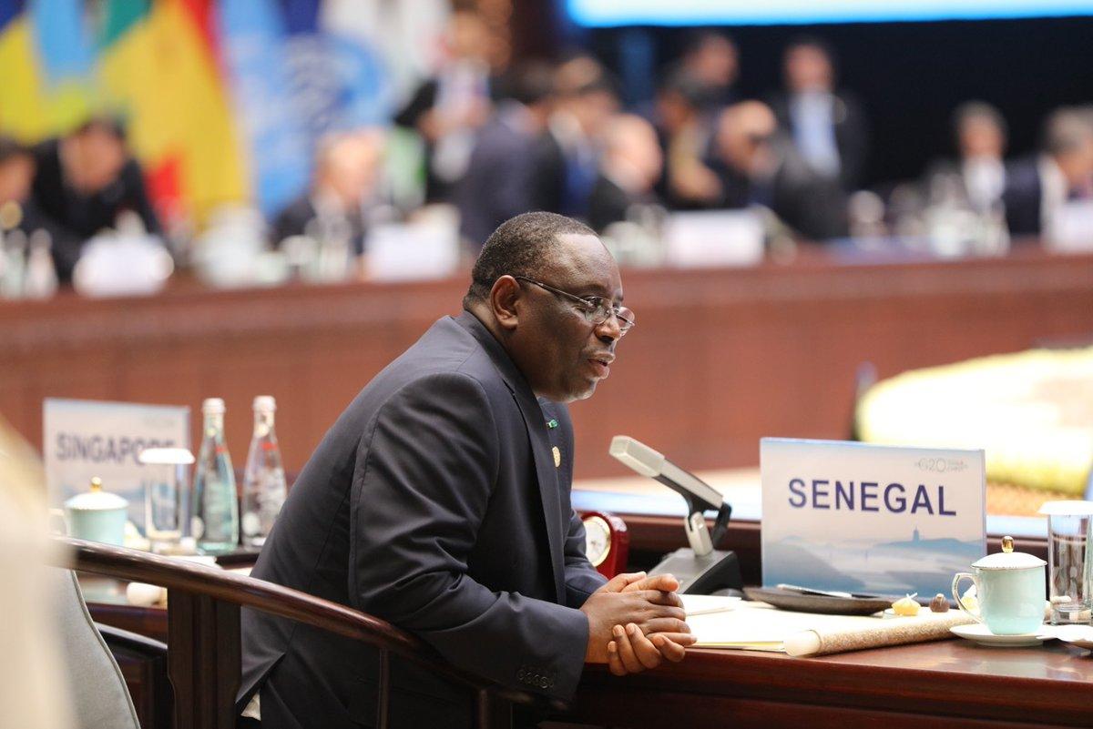 Message du Président Macky Sall à l'occasion du Sommet du G20 à Hangzhou en Chine