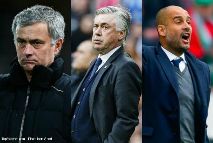 Guardiola, Mourinho, Ancelotti... Les dix entraîneurs les mieux payés du monde