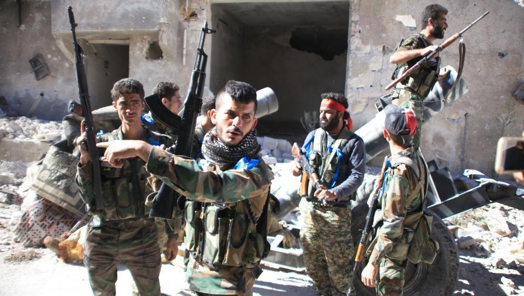 Les soldats syriens ont pris le camp de Handarat samedi avant de le perdre, moins de 24 heures après. GEORGE OURFALIAN / AFP