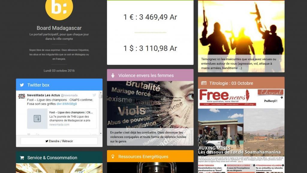 Madagascar: lancement du site board.mg pour lutter contre l'insécurité