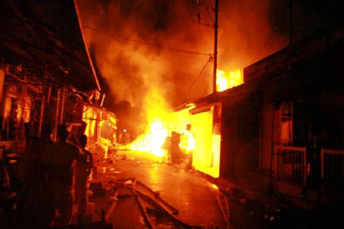 Incendie au marché central de Thiès: plusieurs millions FCFA partis en fumée