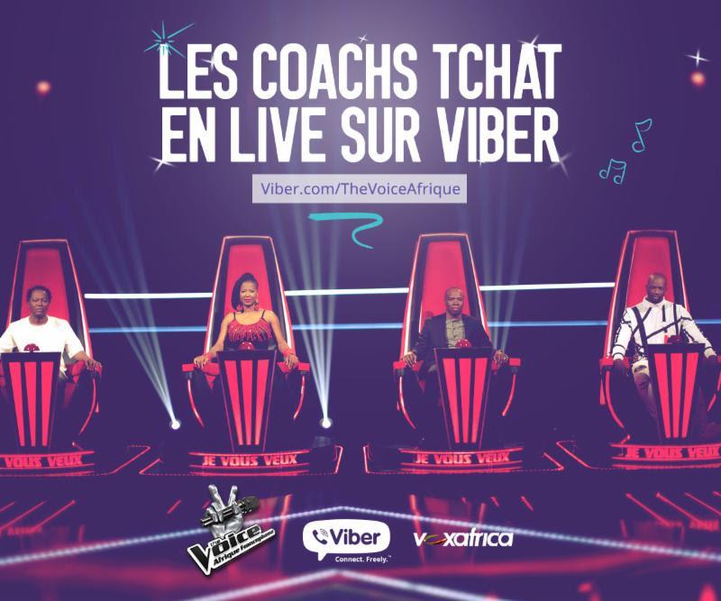 The Voice Afrique Francophone rejoint les Tchats Publics de Viber pour continuer son «show» sur mobile