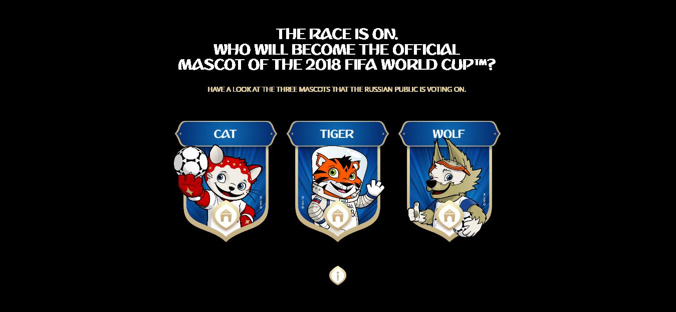 Mondial Russie 2018: 3 candidats pour la mascotte