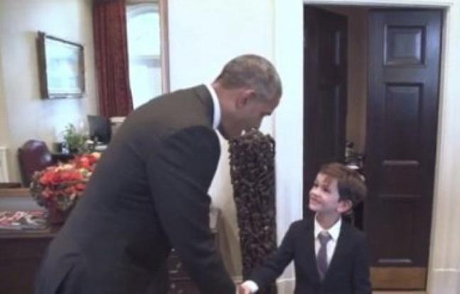 Etats-Unis: Il avait demandé à accueillir un jeune syrien, Alex, 6 ans, reçu à la Maison Blanche par Obama