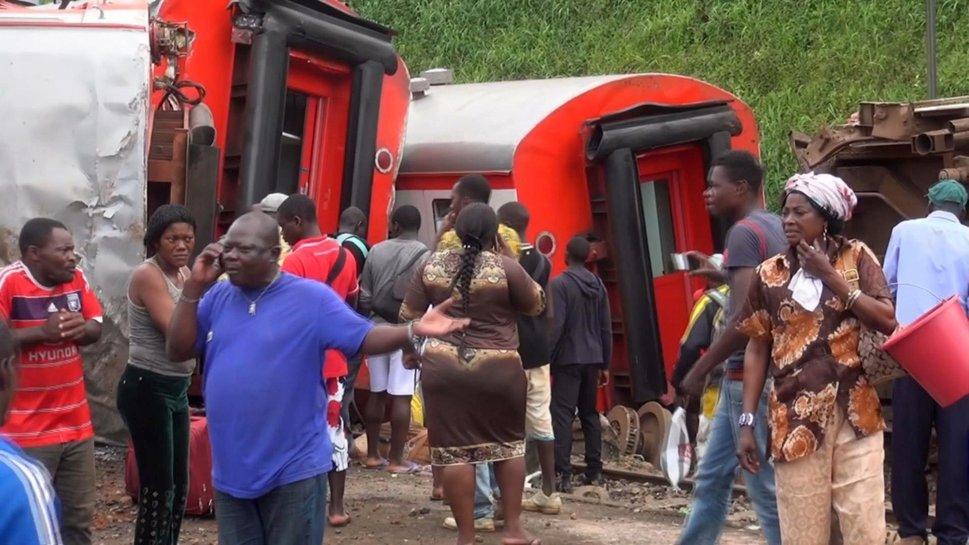 Déraillement d'un train de marchandises à Douala, aucune victime
