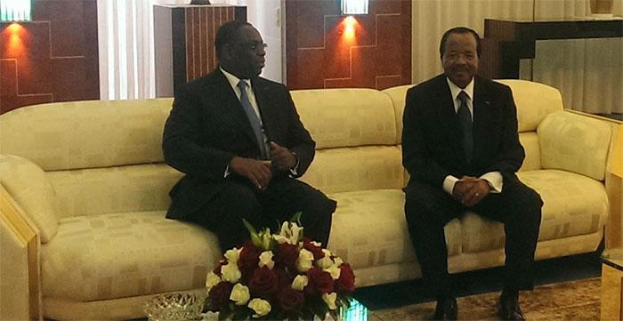Cameroun: Le président Sall en tête-à-tête avec Paul Biya