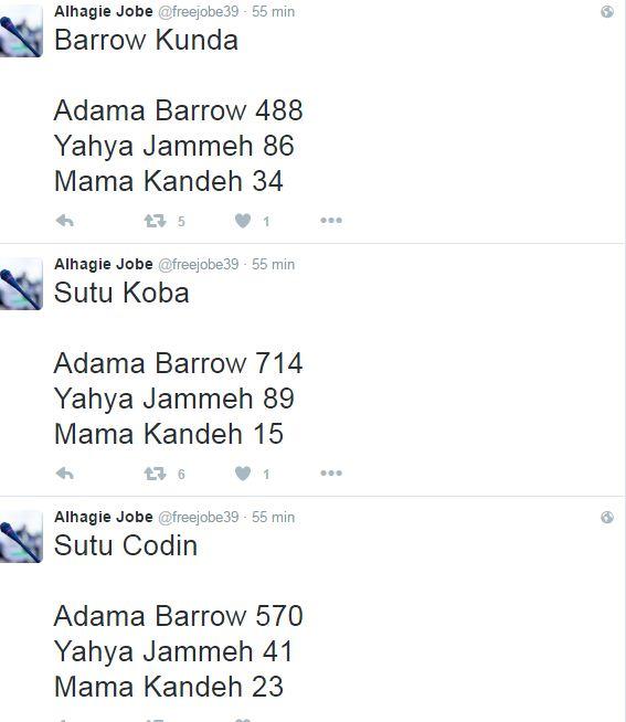 Direct de Gambie - Présidentielle : les premiers résultats placent en tête Adama Barrow, le rival de Yaya Jammeh