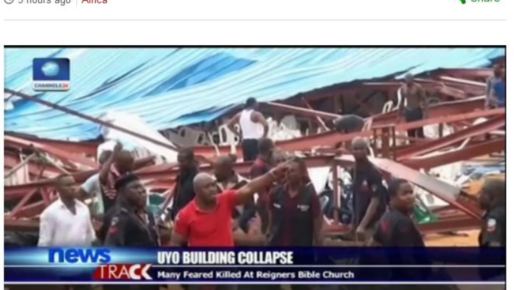 Nigeria: nombreuses victimes dans l'effondrement du toit d'une église