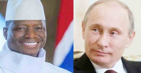 Gambie: Poutine lâche Yaya Jammeh et félicite Adama Barrow