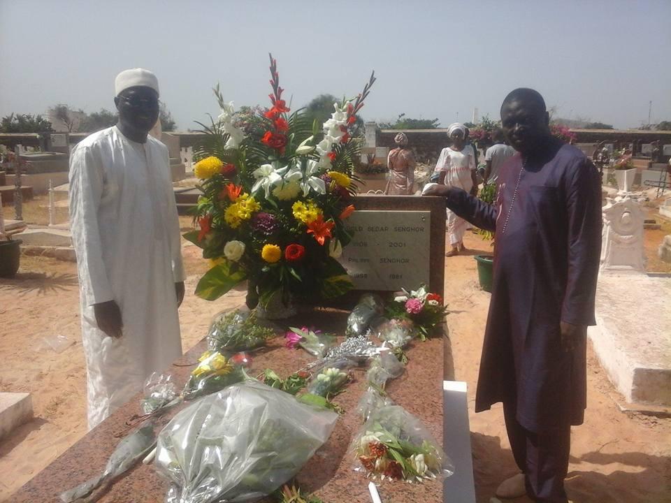 Anniversaire décès: Khalifa Sall et Bamba Fall se recueillent sur la tombe de Senghor