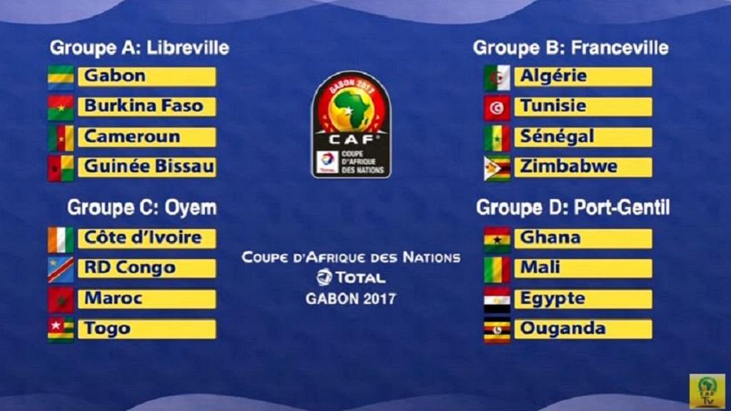CAN 2017 : Le programme complet des matches de poules