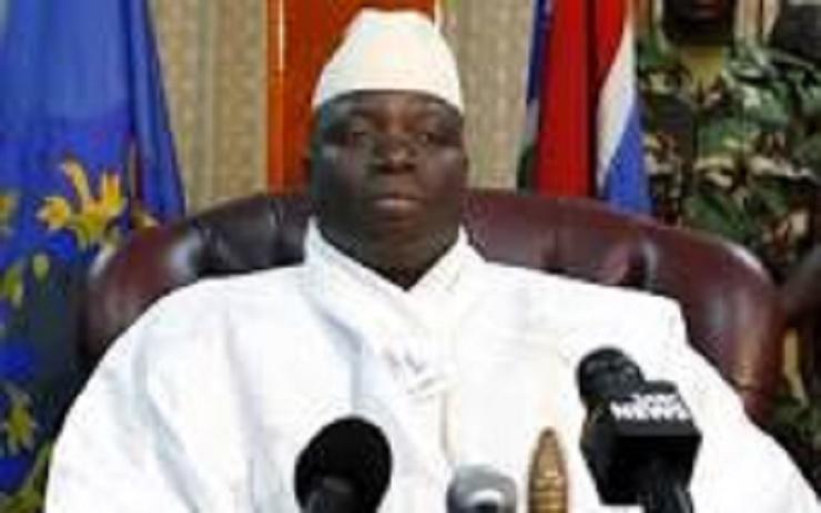 Urgent Yaya Jammeh en train d'enregistrer son discours d'adieu au peuple gambien