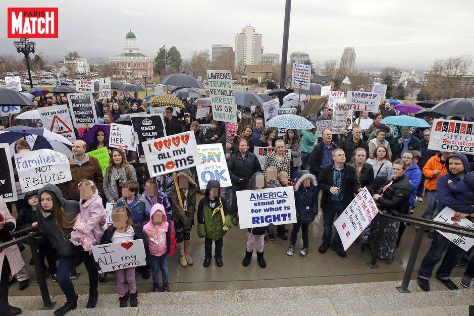 Dans l'Utah, une manifestation pour la polygamie