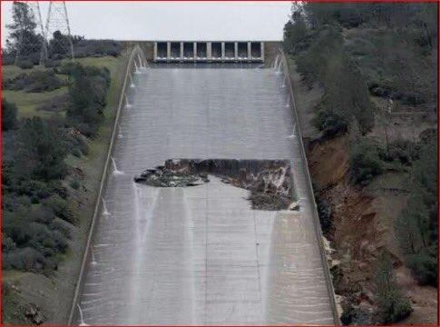Le plus haut barrage des États-Unis menace de céder