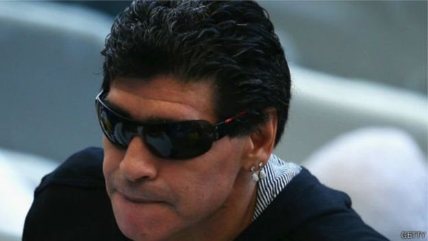Dispute animée entre Maradona et sa compagne