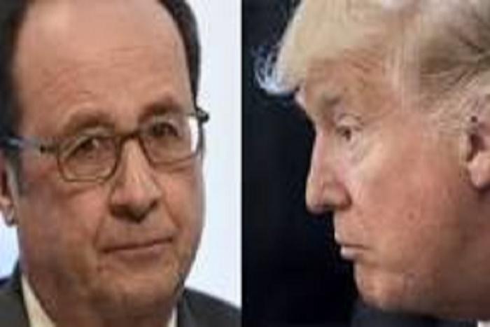 """François Hollande répond à Donald Trump: """"Ici il n'y a pas de personnes qui prennent des armes pour tirer dans la foule"""""""