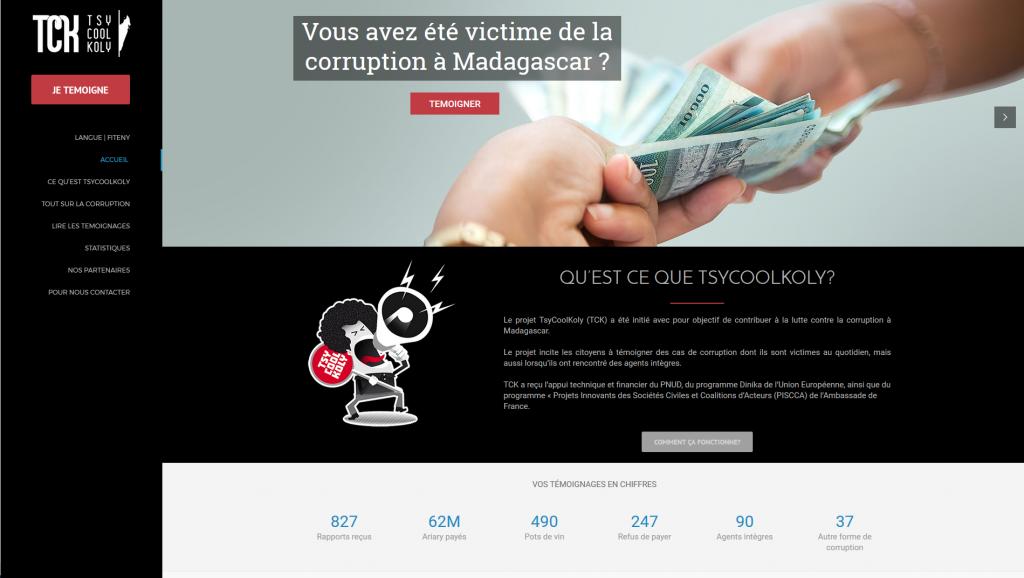 Madagascar: un site pour inviter les citoyens à dénoncer les actes de corruption