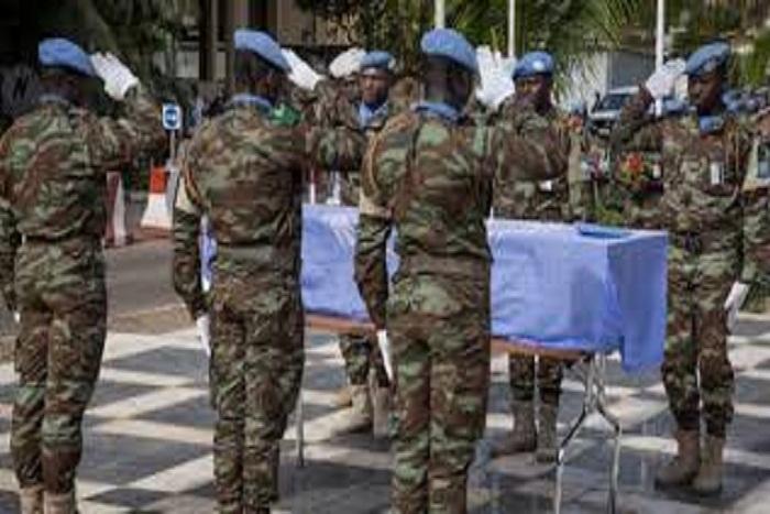 Un casque bleu sénégalais tué à Bangui