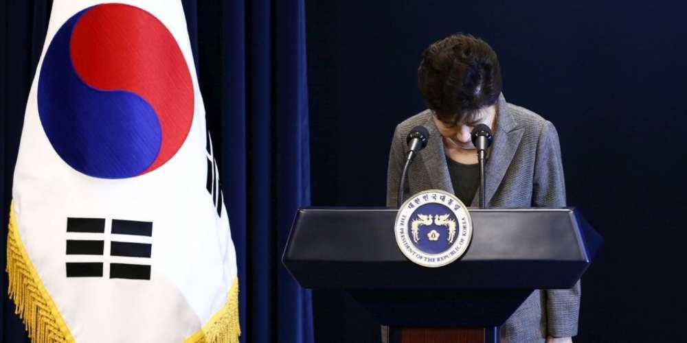 La présidente de Corée du Sud virée par la justice