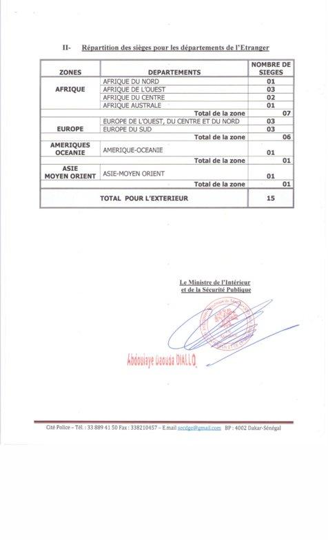 Voici le décret fixant la répartition des 105 sièges de députés pour les listes départementales de l'intérieur et de l'étranger