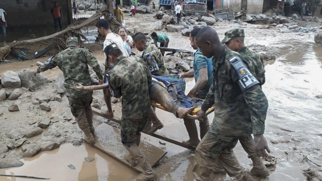Colombie: une gigantesque coulée de boue fait au moins 200 morts à Mocoa