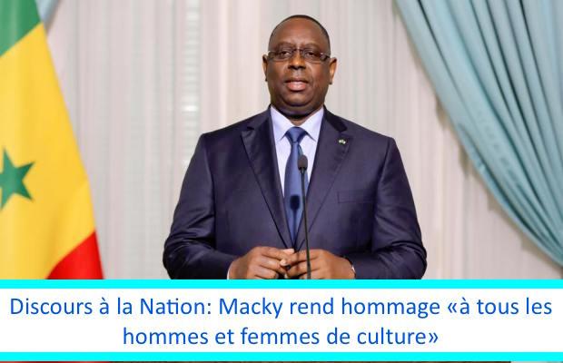 Discours à la Nation: Macky rend hommage «à tous les hommes et femmes de culture»