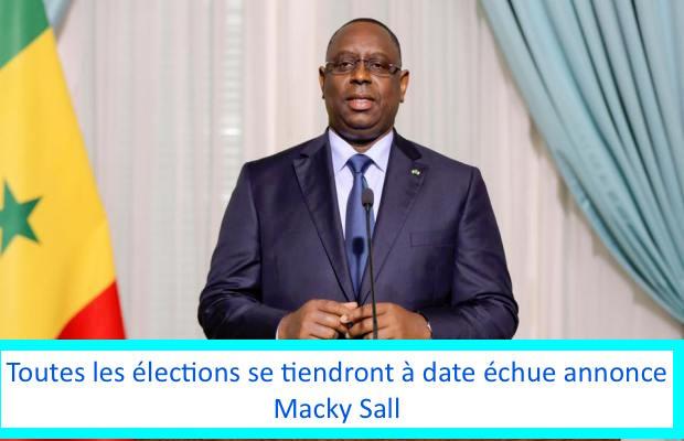Toutes les élections se tiendront à date échue annonce Macky Sall