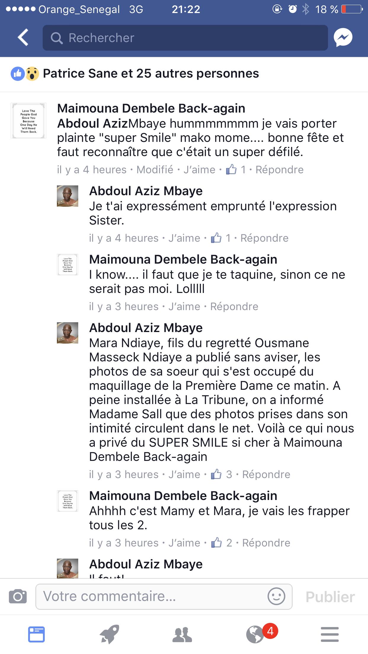 Défilé 4 avril: Les raisons de la mine sévère de Marième Faye Sall très commentée sur Facebook