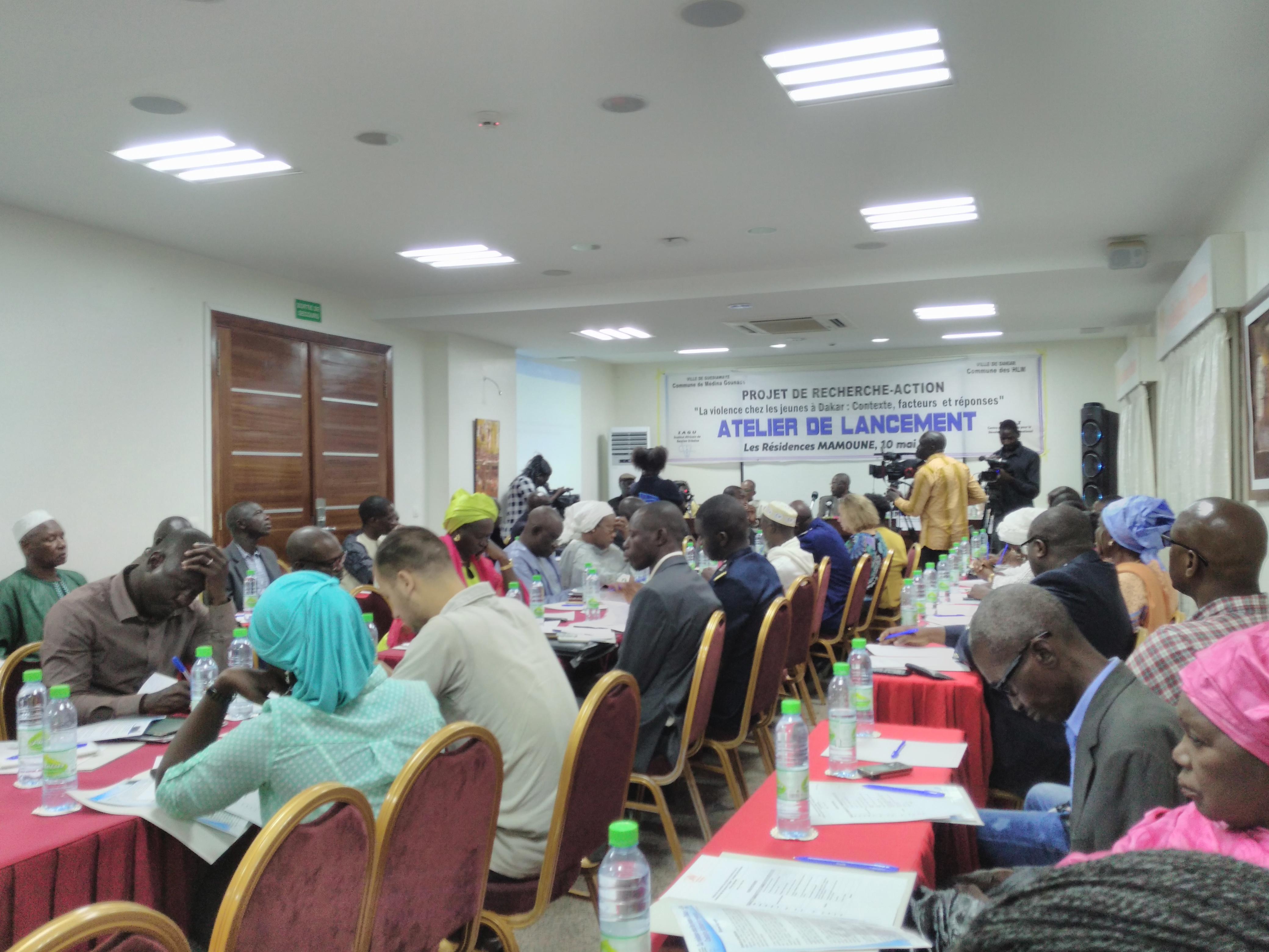 Le projet de recherche-action sur la violence chez les jeunes à Dakar, lancé aujourd'hui