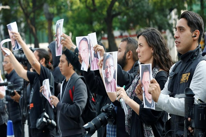 Mexique: manifestation contre les assassinats de journalistes