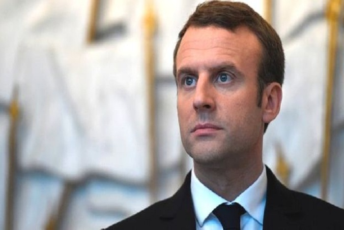Emmanuel Macron en visite à Gao