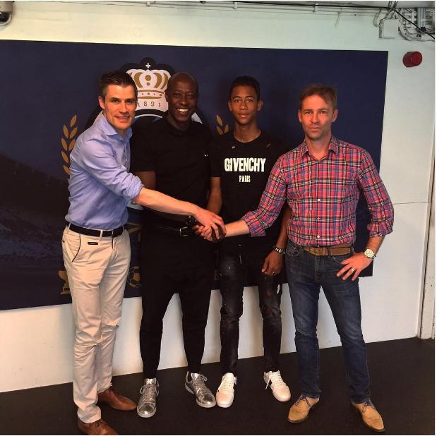 Khalilou Fadiga réagit après son premier contrat professionnel à Bruges de son fils Noah
