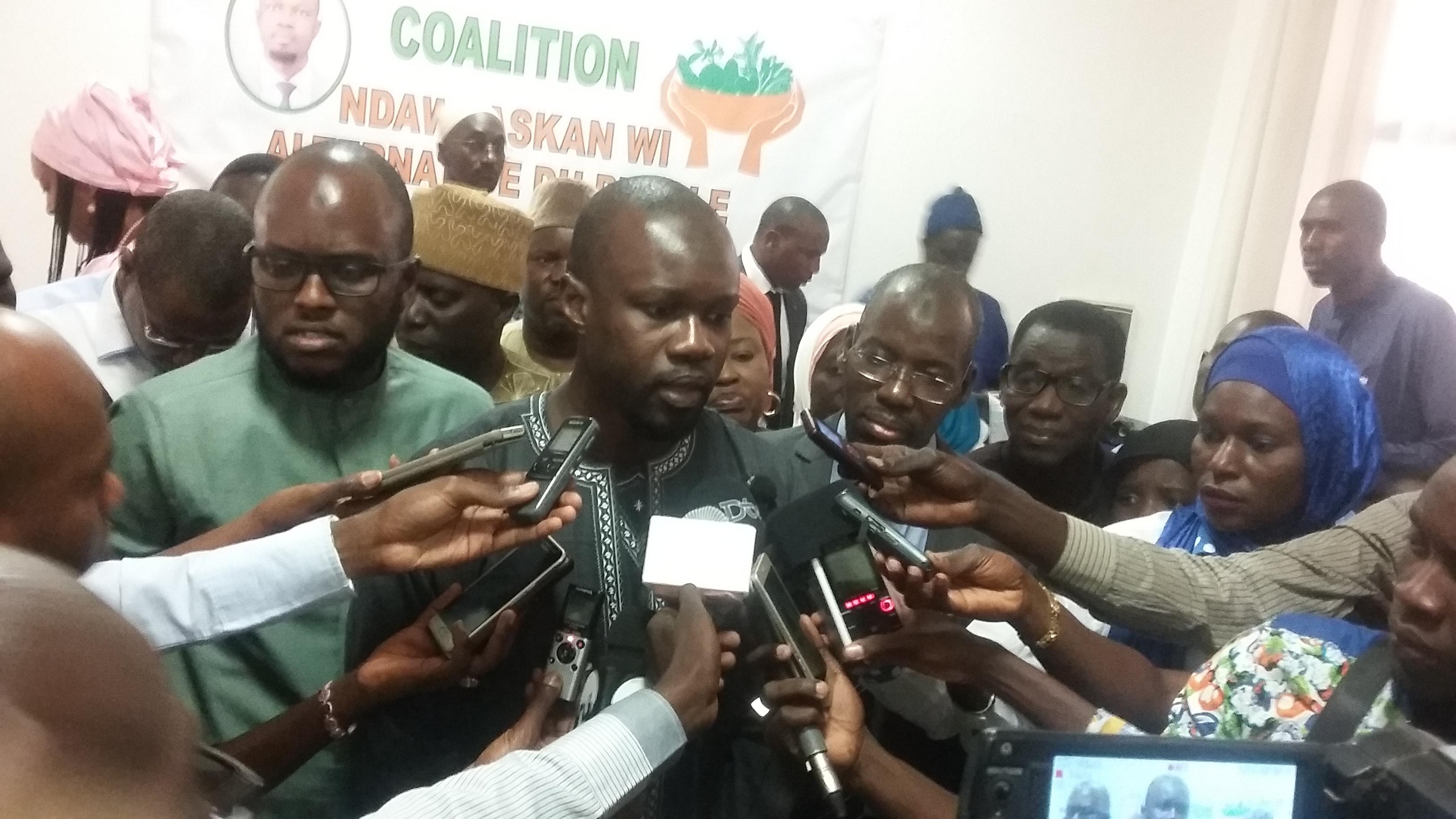 """Ousmane Sonko et sa coalition accusent Macky : """"A 2 mois des élections, personne n'est en mesure de dire..."""""""
