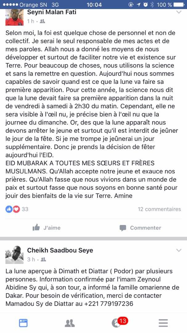 Encore deux Korité au Sénégal : les internautes se déchainent