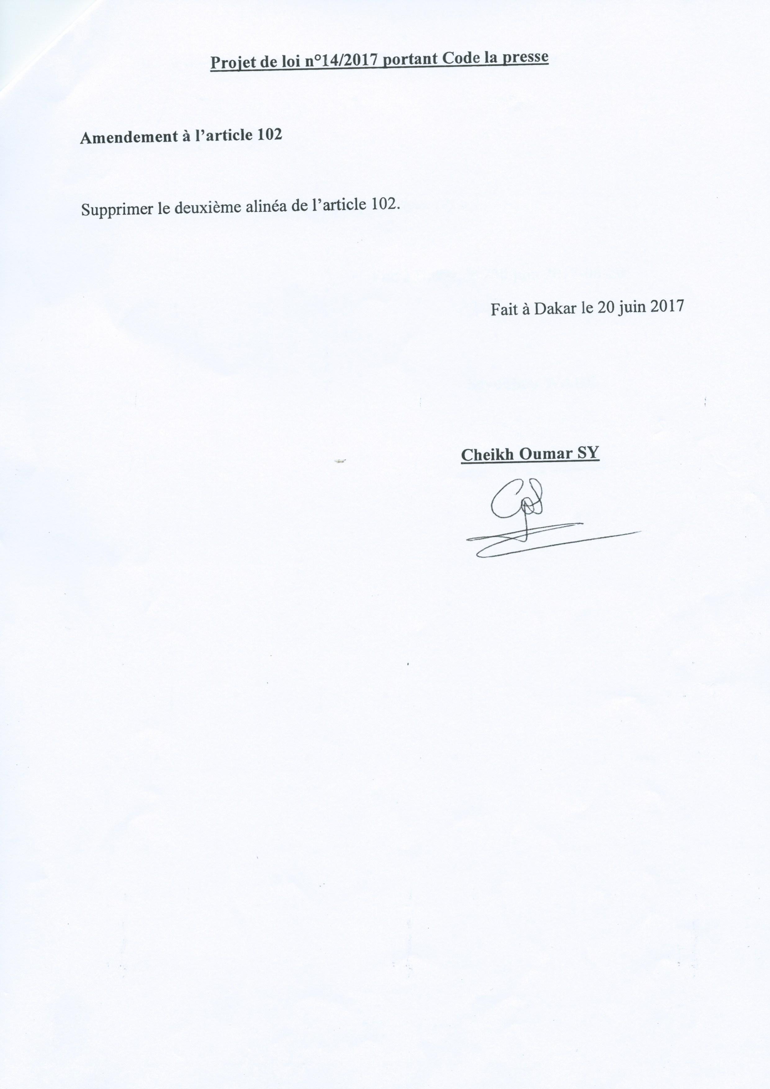 Code de la presse et les amendements: l'intégralité du texte Sénégalais