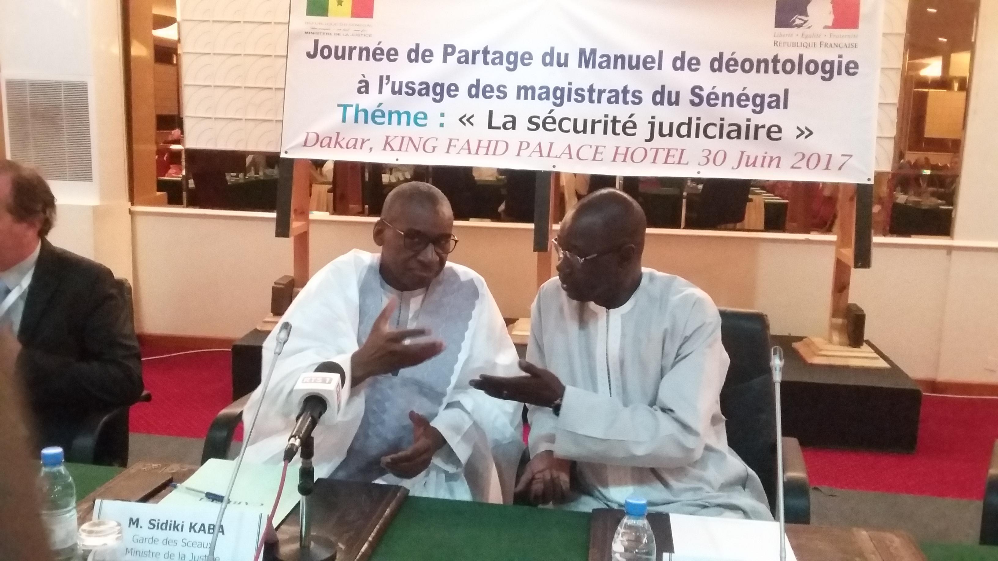 Présentation du Manuel de déontologie : Me Sidiki Kaba invite les magistrats sénégalais à sa pratique pour l'indépendance de la justice