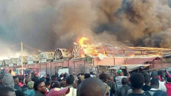 Zambie : incendie au plus grand marché du pays
