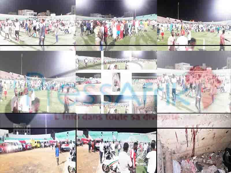 (Images) Finale Coupe de la Ligue : un mur s'effondre et fait plusieurs morts