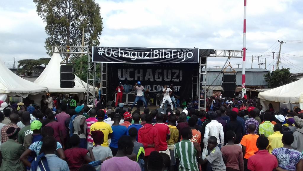 Elections au Kenya: un concert pour la paix à Kibera, bidonville de Nairobi