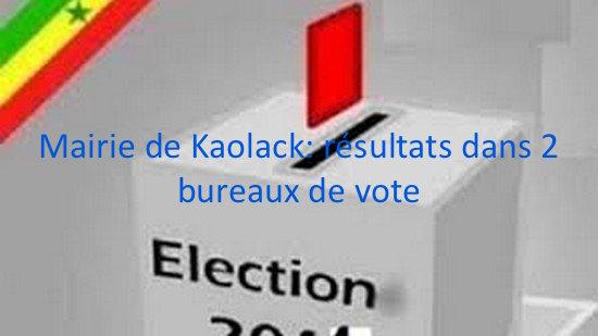 Mairie de Kaolack: résultats dans 2 bureaux de vote