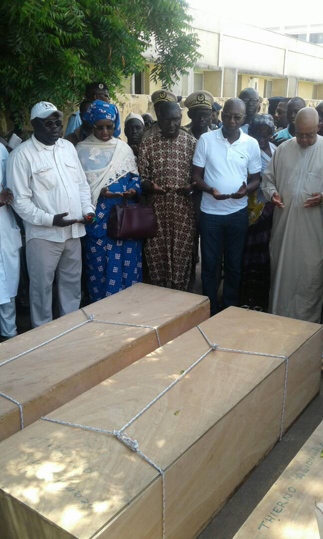 Adieu poignant aux victimes de l'accident de Ngathie Naoudé (Photos)