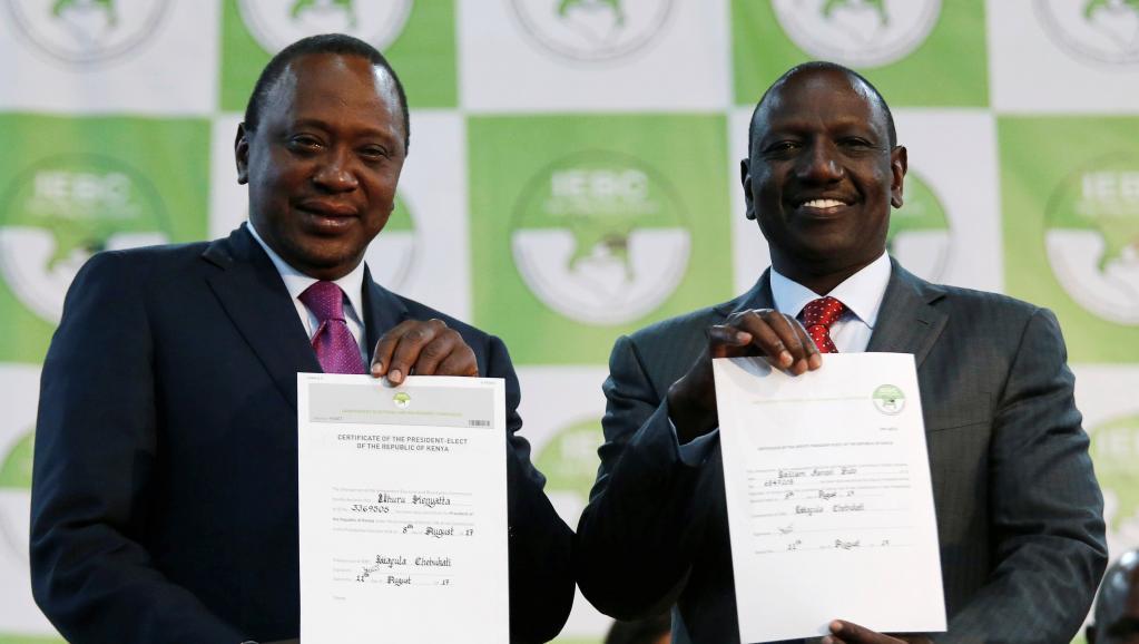 Kenya: la commission électorale proclame la réélection d'Uhuru Kenyatta
