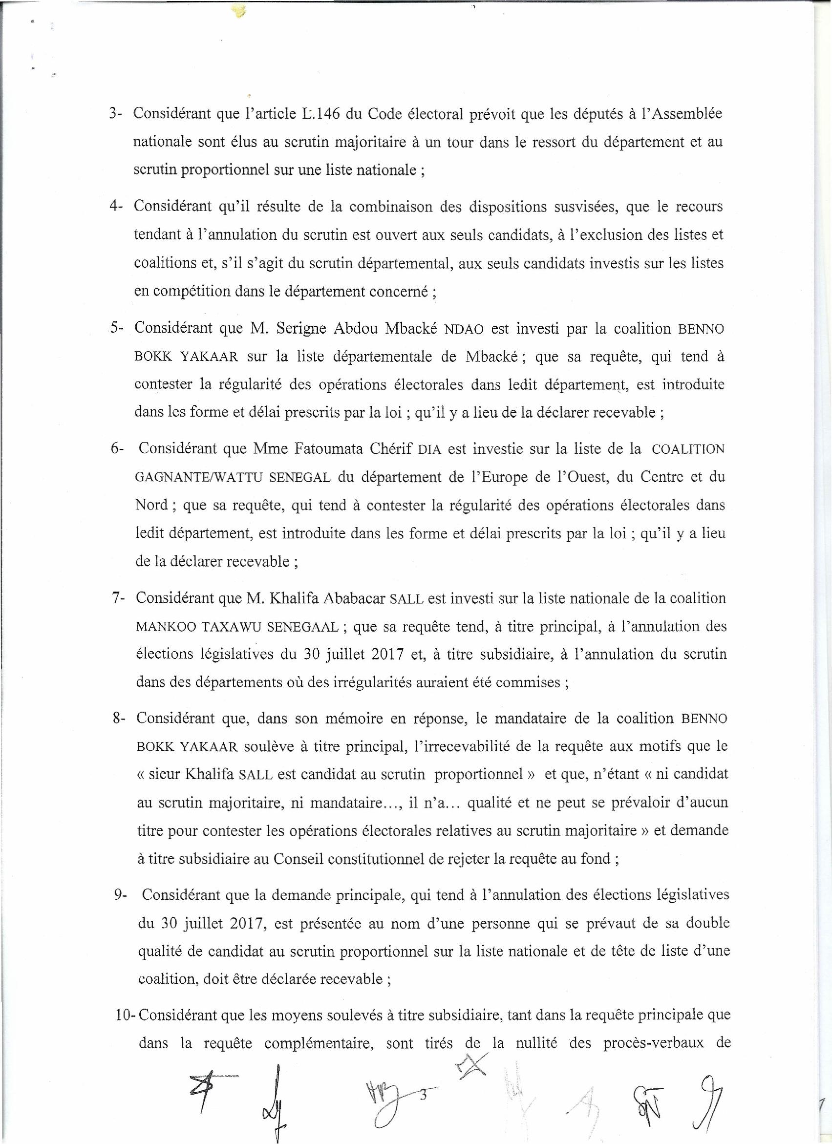 Le Conseil Constitutionnel valide la victoire de BBY et rejette tous les recours: Voici la liste officielles des élus
