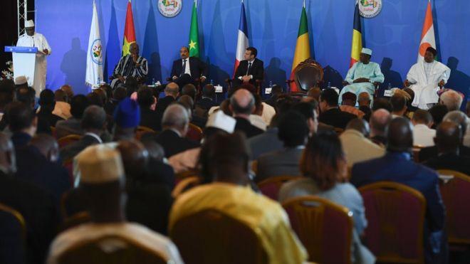 Les chefs d'Etats du G5 Sahel à l'ONU